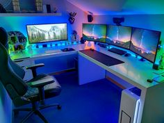 15 Game Room Ideas You Did Not Know About + Pros & Cons 15 Game Room Ideas You Did Not Know About Pros & Cons Esta es mi sala de juegos. The post 15 Game Room Ideas You Did Not Know About Pros & Cons appeared first on Schreibtisch ideen. Gaming Setup, Computer Gaming Room, Corner Gaming Desk, Gaming Rooms, Gaming Chair, Gamer Room, Pc Gamer, Game Room Lighting, Bedroom Lighting