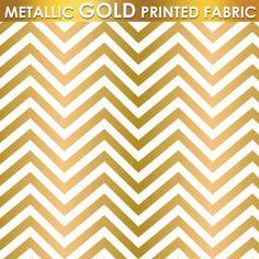 Metallic Gold Ziggy fabric in the navy Jackie savage mcfee