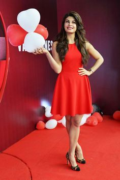 Jacqueline at a beauty launch. Reminds me a lot of the song Koi mil Gaya from #Kuch_Kuch_Hota_Hai!