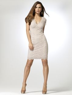 Cache Lace Sheath Dress
