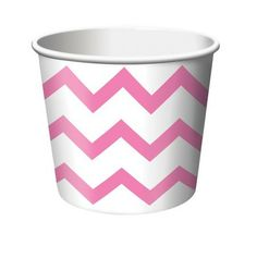 Chevron Ice Cream Cups in Kara's Party Shop | 6ct for $2.30!
