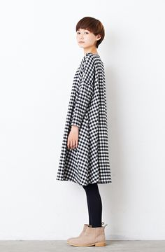cute coat in black and white