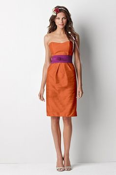 Hello beautiful orange/purple wedding colors. Where was this dress a year and a half ago?