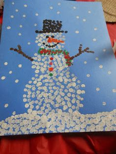 The Hommel Four: Snowman Crafts–Ornaments & Q-tips paintings The Hommel Four: Schneemann basteln – Ornamente & Q-Tips Gemälde Winter Art Projects, Christmas Crafts For Kids, Christmas Art, Q Tip Painting, Painting For Kids, Crafts For Seniors, Snowman Crafts, Winter Fun, Toddler Crafts