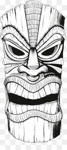 Could do tikis for a symmetry lesson Tiki Drawings Illustration Tiki Tattoo, Tiki Maske, Tiki Head, Dibujos Tattoo, Tiki Art, Tiki Tiki, Oldschool, Illustration, Pyrography