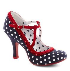 Vintage Style Polka-dotted 'something blue' Wedding shoes
