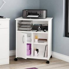 Contemporary Style South Shore Smart Basics Printer Stand...