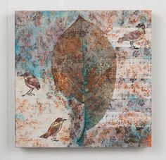 Mixed Media collage - Little Birds by Rachael Ashe