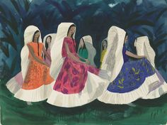 concept art for Disney's Saludos Amigos by Mary Blair