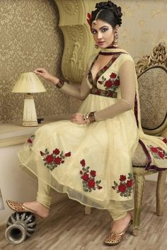 Latest fashion frocks with churidar pajama designs 2014 for girls Latest Fashion Trends Frocks Designs 2014 latest fashion of frock designs.