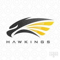 Exclusive Customizable Logo For Sale: Hawk Kings - Hawkings Moto Logo, Eagle Icon, Falcon Logo, Graphic Design, Vector Design, Design Art, Security Logo, Logo Desing, Orange Yellow