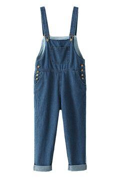 ROMWE | Sheer Blue Denim Playsuit, The Latest Street Fashion