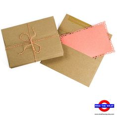 50  A6 size Brown Bag Envelopes  Recycled  Grocery от MindtheWrap, $9,75