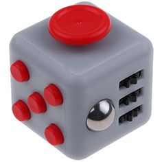 FIDGET CUBE ORIGINAL Relieves Stress And Anxiety Attention 6 Sides TOY (1.5 In x 1.5 In) (Gray and Red) ** You can get additional details at the image link. (This is an affiliate link and I receive a commission for the sales) #NoveltyGagToys