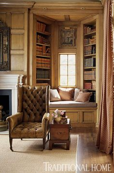 Library | Jane Hoke; Hawkings Israel Co. Interior Design | Photography: Colleen Duffley | Traditional Home