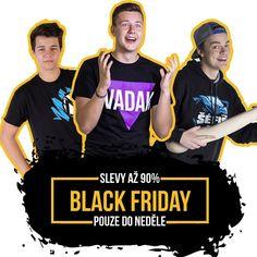 Black Friday na RealGeek.cz = slevy až 90% na youtuberský i geekovský merch. Jenom do neděle nebo do vyprodání zásob! . . . #blackfriday #youtuberi #vadak #vadakfamily #realgeek #friday #black