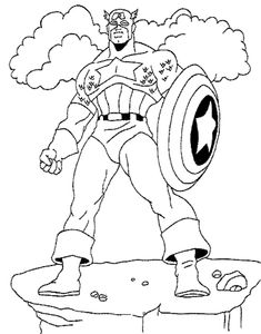 Coloring Pages Captain America Shirt from Captain America Printable Coloring Pages. Are you a Marvel's superheroes fan? There is good news, one of them is here. You can find Captain America coloring pictures on this page. Have fun dis. Super Coloring Pages, Cat Coloring Page, Coloring Pages To Print, Colouring Pages, Printable Coloring Pages, Coloring Pages For Kids, Coloring Sheets, Coloring Books, Captain America Coloring Pages