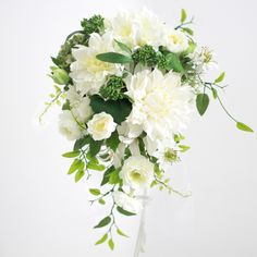 Silver Anniversary, Anniversary Ideas, Wedding Bouquets, Wedding Flowers, Beautiful Flowers, Marie, Floral Wreath, Ivory, Blue And White