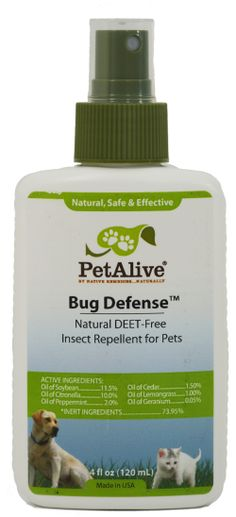 Bug Defense™ - Natural, water  sweat resistant, DEET-free insect repellent for pets lasts for hours