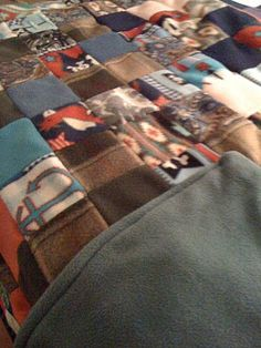 Fleece patchwork (un)quilt. Ive made two of these and this is the most popular post on my blog.