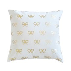 Gold Bows Pillow