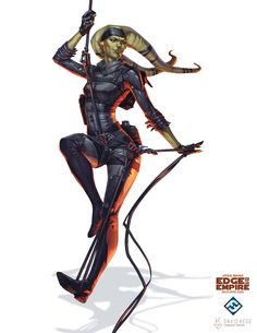 Star Wars: Edge of the Empire - Twi'lek Thief, David Kegg on ArtStation at https://www.artstation.com/artwork/XdyJn