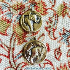 FLIP A COIN... Turn heads for a good cause: a portion of proceeds from GUSTAV MANZ elephant pendant are donated to TUSK #GivingTuesday #HowToWearAnElephant