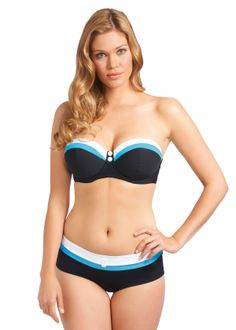 Revival Black Bandeau Bikini Top | Freya Swim