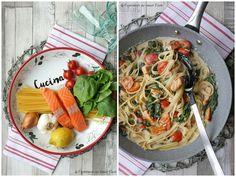 Spinat-Lachs-Pasta