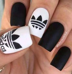 #Adidas #Nails #Inspiration by @banicured