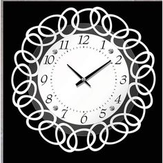 Metal and Glass Raised Wall Clock