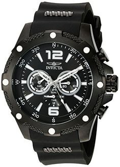 Men  Watches - Invicta Mens 19662 IForce Analog Display Swiss Quartz Black Watch ** You can find more details by visiting the image link. (This is an Amazon affiliate link)