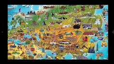 Kids World Map World Map Continents, Kids World Map, Social Studies, Geography, The Neighbourhood, Shelving Units, Europe, Apps, Painting