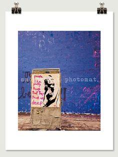 Beautiful Girl Street Art Modern Pop Photograph by SmokestackPhotomat, $18.00
