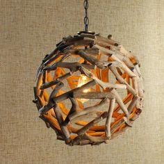 ronde lampe deco en branche