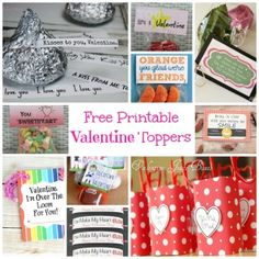 Free Printable Valentine's Toppers