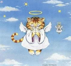 Gary Patterson Cats christmas | Gary Patterson's Kitty Angel (and friend)
