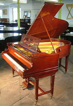 An 1890, Bechstein Model A Grand with a polished, mahogany case and gate legs at Besbrode Pianos