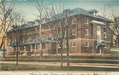ATHENS, OH Ohio University Girls Dormitory Boyd Hall 1908 Handcolored Postcard | eBay