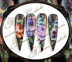 One Stroke Nails, Nails First, Flower Nail Art, Dream Nails, Disney Drawings, Nail Arts, Pink Nails, Diy And Crafts, Nail Designs