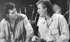 With Jeff Healey in Road House.  Both gone too soon.