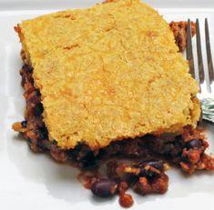 Tamale Casserole-Brian didn't like the cornbread. Next time I may put corn tortillas on top instead.
