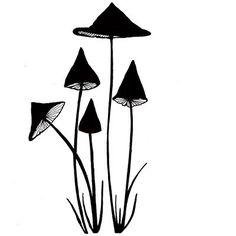 Lavinia Stamps Slender Mushrooms