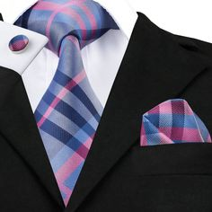 Tie, Hanky And Cufflinks Sets For Men - 100% Silk //Price: $12.45 & FREE Shipping //     #Clothing
