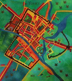 Yorke 1611 art map quilt by Alicia Merrett