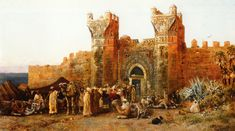 Gate of Shehal, Morocco - 1880, Painted by Edwin Lord Weeks.