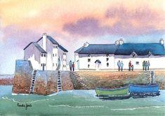 Limited Edition PrintPolperro Harbour 2 by Pamelajonesartstudio, £15.00