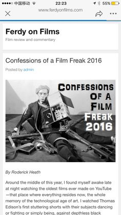http://www.ferdyonfilms.com/2016/confessions-of-a-film-freak-2016/29244/..... behind the screen review just like reading a autobiography or a biography, this M/F Donald trump or Donald Duck filthy made up constitutions with All corrupt world.....🐼🕵🏽🤖🐶🐠🚄🐣🐣🎶🍎™®