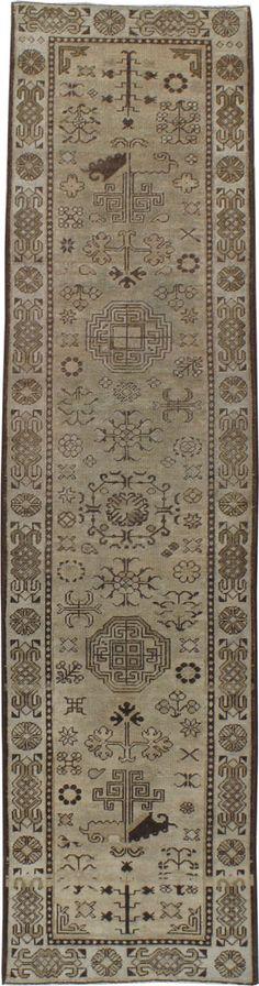 Antique Khotan Runner 2ft. 3in. x 8ft. 10in. - Galerie Shabab
