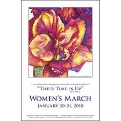 """""""Their Time Is Up!"""" Oprah Winfrey Download to print from http://www.sarasteele.com/womens-march-posters.html"""